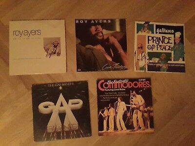 Funk Soul LP Paket Roy Ayers, Commodores,  Gap Band,  Galliano