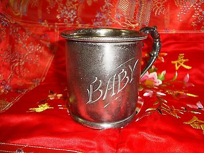 DERBY S P COMPANY BABY CUP SILVER PLATE ENGRAVED 1930's
