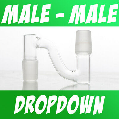 Scientific Lab Glass Dropdown Drop Down Adapter Male to Male 10mm 14mm 18mm
