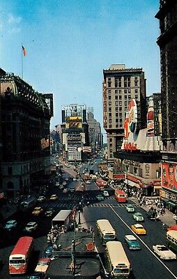 Vintage Postcard Of Times Square In New York City, NY Long Ago
