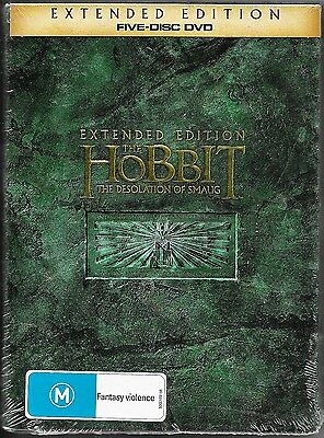 The Hobbit : The Desolation Of Smaug Extended Ed. 5-Disc Dvd New Reg/4 Free Post