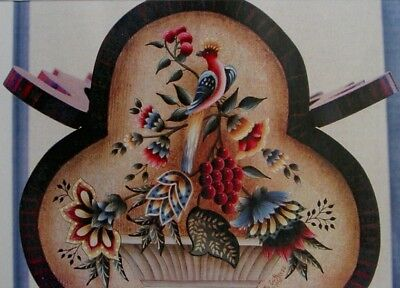 """Betty Caithness lovely tole painting pattern """"Jacobean Floral Table"""""""