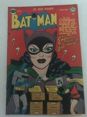 Batman #65 July 1951 Catwoman Empress Of Underworld Dick Sprang Bob Kane Vg+