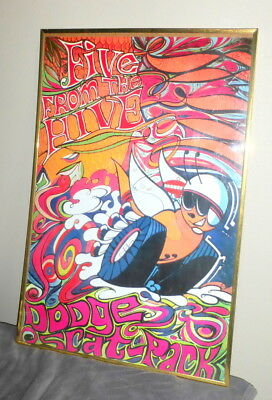 Rare Vintage 1968 Dodge Scat Pack Five From The Hive Psychadelic Poster 35X23