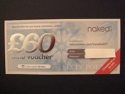 Naked Wines - Voucher For £60 Off Case Of Wine Priced £99.99 Or More