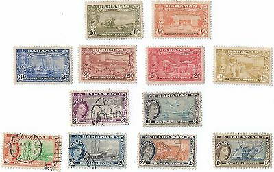 Lot of 12 pcs British BAHAMAS 6 MLH & 6 fine used Stamps (S-135)