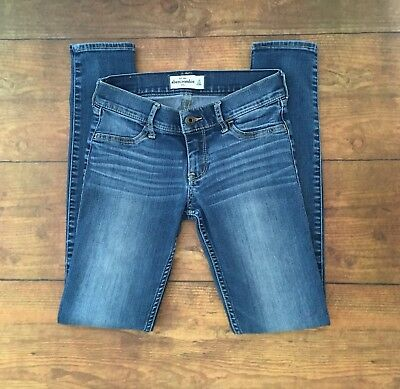 Abercrombie & Fitch Kids Girls Size 16 Stretch Jeans Jeggings Distressed 25x28