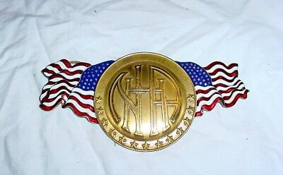 1915 NHA National Highways Association Radiator Emblem Badge Vintage Antique Car