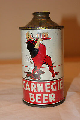 Very Rare Vintage Carnegie Beer Cone Top Can