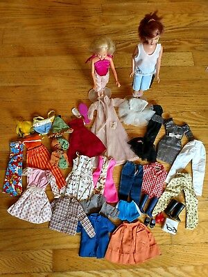 Vintage Barbie CLOTHES & DOLLS LOT FROM VERY GOOD CONDITION TO TLC  SOME TAGGED