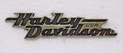 Harley-Davidson Motorcycle Brass Plated Pin  #18 Free Shipping In Usa