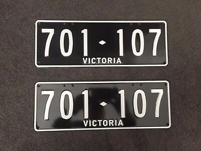 Victoria Numerical number plates           Enamel Version Available As Well