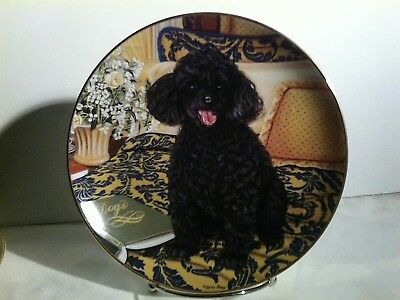 "danbury mint ""poodles"" by higgins bond"