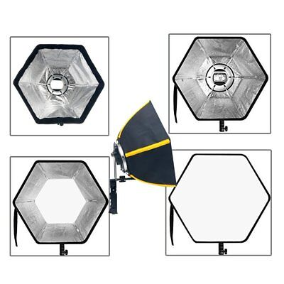 Photographic 50cm Speedbox Diffuser Speedlight Softbox Hexagonal with Adapter