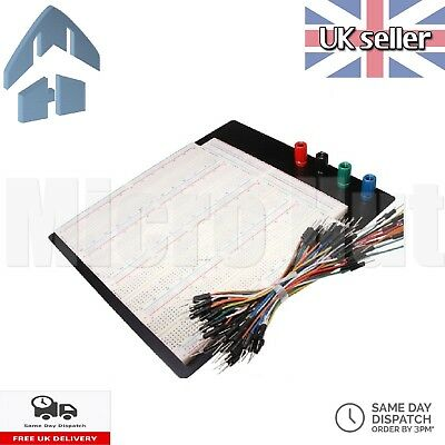 3220 Point Solderless Prototyping Breadboard + 65pc Jumper wires - 400 420 830