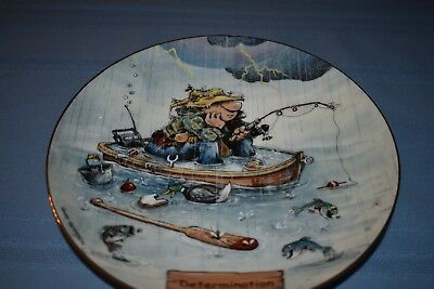 """DETERMINATION""  Collector plate, Gary Patterson, The Art of Fishing"