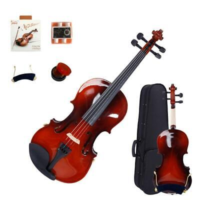 New Natural 1/4 Acoustic Violin Fiddle + Case +Bow +Rosin Christmas Promotion