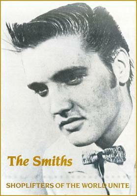 "The Smiths ""Shoplifters of the World Unite"" POSTER 1987 Morrissey Marr Elvis"