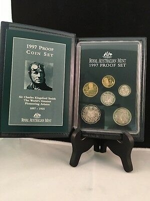 1997 Royal Australian Mint Proof Coin Set Sir Charles Kingford Smith Coins