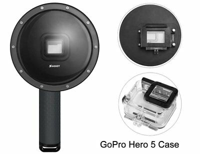 SHOOT Dome Port Underwater Diving Lens Housing Case Handgrip for GoPro Hero 5 6