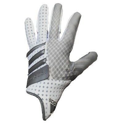 adidas CrazyQuick 2.0 Football Gloves (White/Silver, 2X-Large)