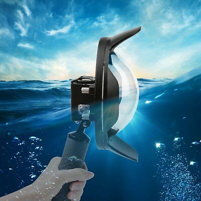 6'' Dome Port Lens Shell Underwater Housing with Float Pole for GoPro hero 5 6