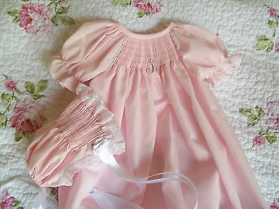 Ready To Smock Front Pleated Daygown Saque Size 3-6 Months