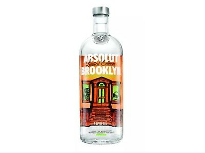 EMPTY ABSOLUT VODKA BROOKLYN SPIKE LEE COLLECTOR BOTTLE  EMPTY 1 liter