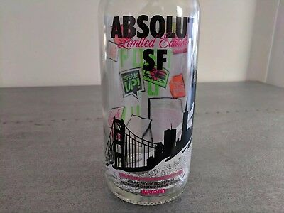 Absolut Vodka Limited Edition San Francisco SF! Beautiful Bottle Perfect