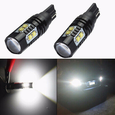 NEW 2Pcs Set 50W 921 912 T10 LED 6000K HID White Backup Reverse Lights Bulb Good