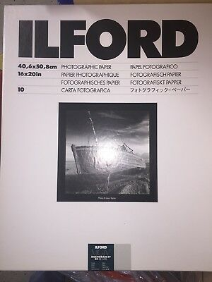 "Ilford Photographic Paper Multigrade IV RC Deluxe .44M 16"" x 20"" Pearl 10 Sheets"
