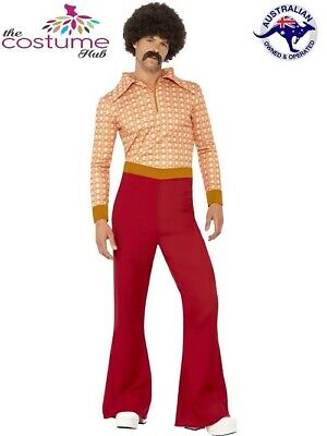 60s 70s Authentic Guy Hippy Hippie Dance Disco Retro Fancy Dress Up Costume