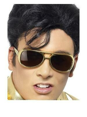 Licensed Shades Gold Elvis Presley 1970'S Fancy Dress Costume Accessory