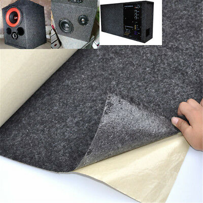 Speaker Black Felt Cloth Self-Adhesive Covering Car Woofer Fabric Hi-Fi 1m Wide