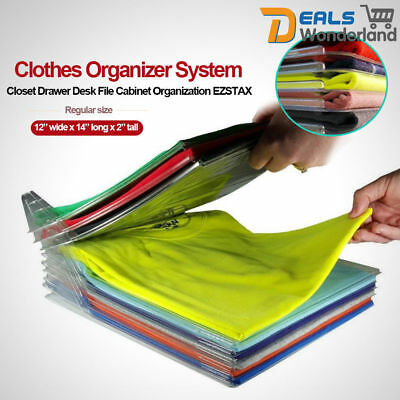 T-shirt Storage Folder Clothes Organizer Closet Drawer Desk File Cabinet Folding