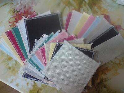 "14ct Aida 3 sizes 4""x4"", 6""x4"", 2""x7"" + 12 colours packs ideal 4 cards Anchor"