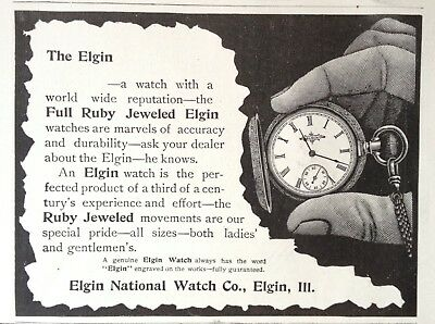 1897 Ad (1800-21)~Elgin National Watch Co. Elgin, Ill. Full Ruby Jeweled
