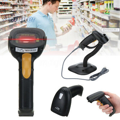USB Laser Barcode Scanner Handheld Scanning Gun for Supermarket/Shop/Warehouse