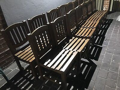 Outdoor Teak Chairs Solid In Good Condition 18 In Total Can Sell Individually