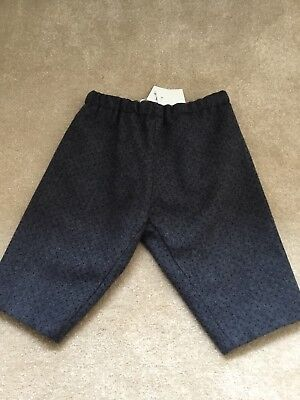 Bonpoint Dandy wool trousers. Navy spot on grey. 6 months. Brand new with tags.