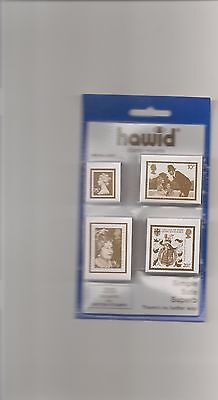 Hawid Mounts G.b. Mixed Pre Cut Pack  200 Mounts Black