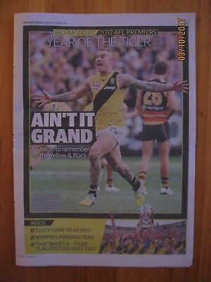 "Richmond Tigers 2017 AFL Premiers 8 Page Special Souvenir - ""Year of the Tiger"""