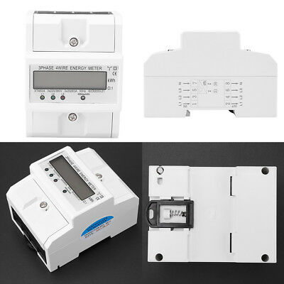 Three-phase Four-wire DIN-Rail Kilowatt Hour KWH Energy Meter 50Hz 3x20(80A) IS