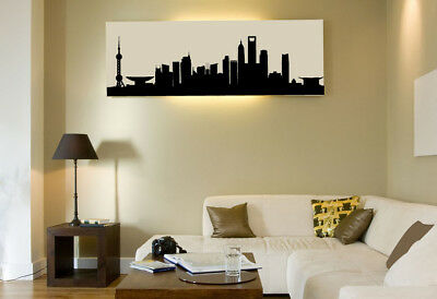 Skyline Wandaufkleber Wandtattoo Berlin Paris London New York Peking Shanghai