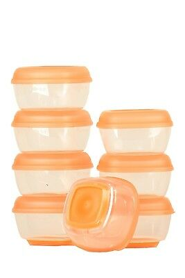 Vital Baby 8 Press 'N' Pop Mini Freezer Pots Orange Freeze Baby Food Containers