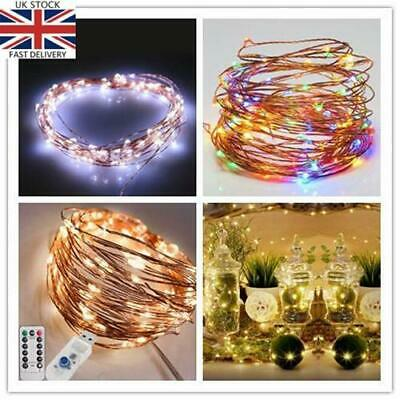 8 Models 100 LED Copper Wire Fairy Lights USB Powered 10m (Warm / Cool / Multi)