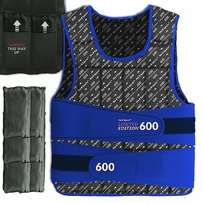 We R Sports Adjustable Weighted Weight Vest - New - BLUE - Leeds Harrogate Area