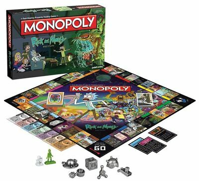 Rick & Morty Collector Edition Monopoly BRANDNEU 6 x Metall Marken Hasbro