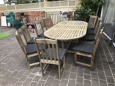 Outdoor Teak 10 Seater With Cushions RRP $4000