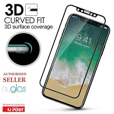 New iPhone X Xs Max 3D Genuine NUGLAS Tempered Glass Full Cover Screen Protector